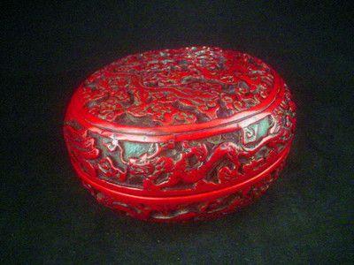 Chinese RED Dragon Phoenix Hand Carved BOX | eBay
