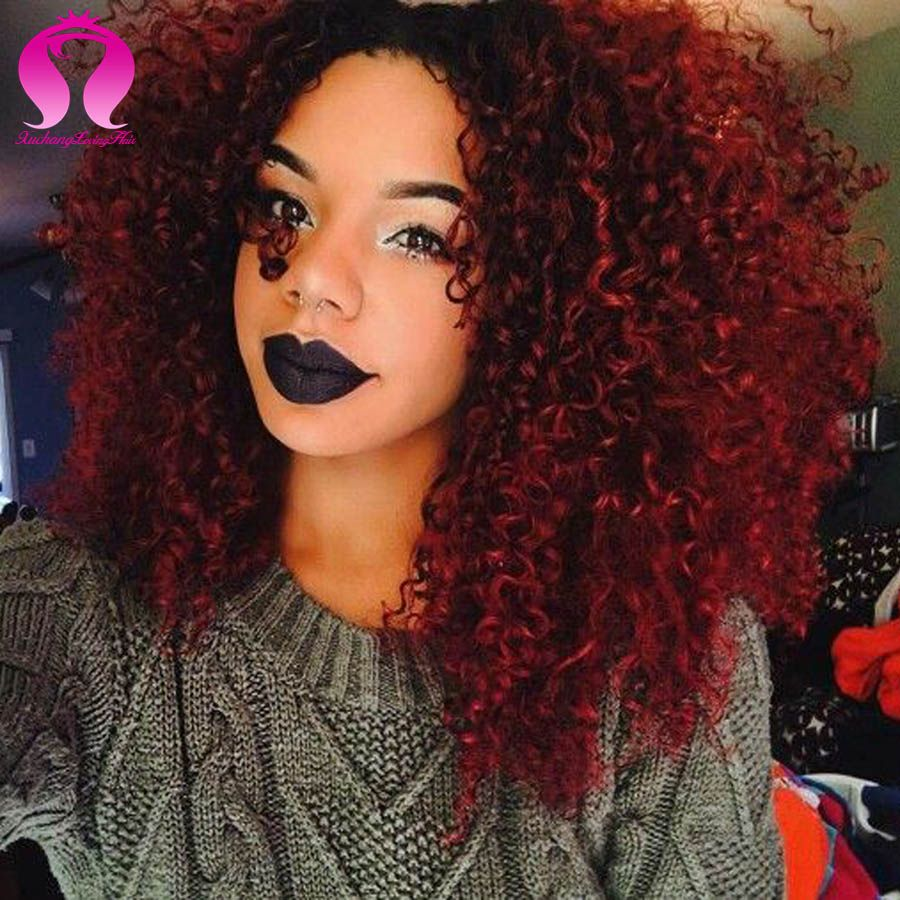 Red ombre hair color indian kinky curly virgin hair 8a indian deep red ombre hair color indian kinky curly virgin hair 8a indian deep wave 3 bundles indian pmusecretfo Image collections