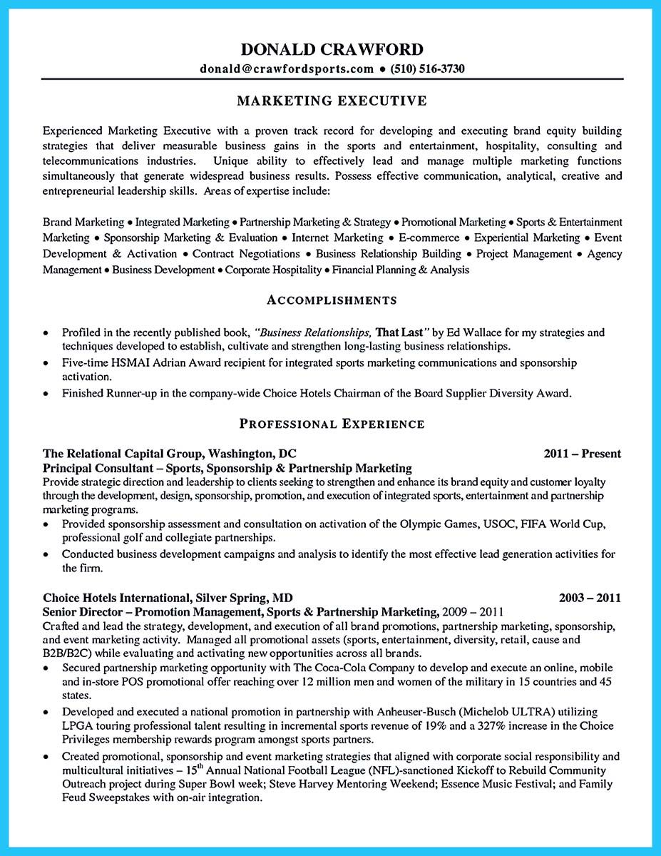 Marketing Director Resume To Write An Athletic Director Resume Is Not Too Different From