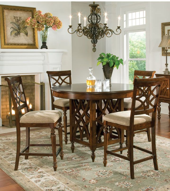 Dining Room Pedestal Table Bella Round Counter Height Pedestal Table Dining Room Set Set