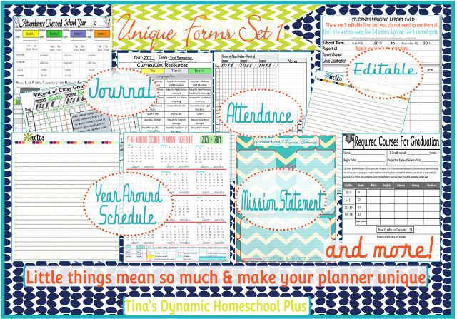 Step Curriculum Planner Attendance Chart School Forms And