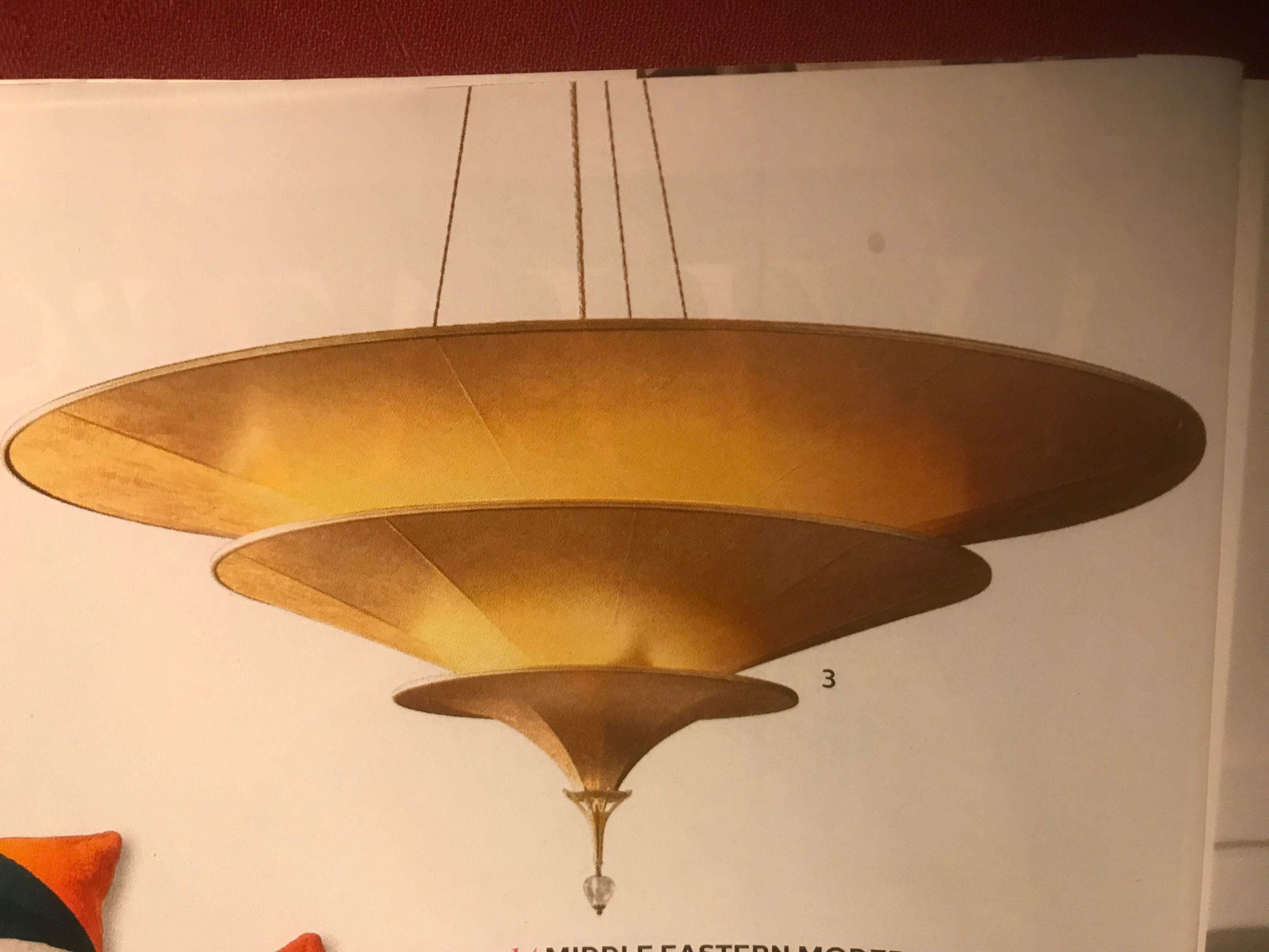Restoration Hardware Icaro chandelier fiberglass shades
