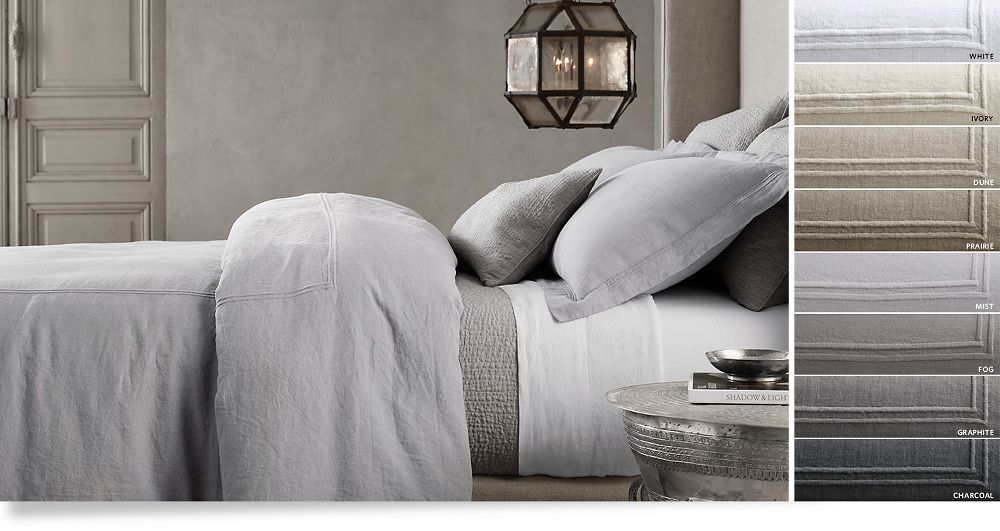restoration hardware italian hotel bedding reviews bed linen collections duvet covers bedroom quilts
