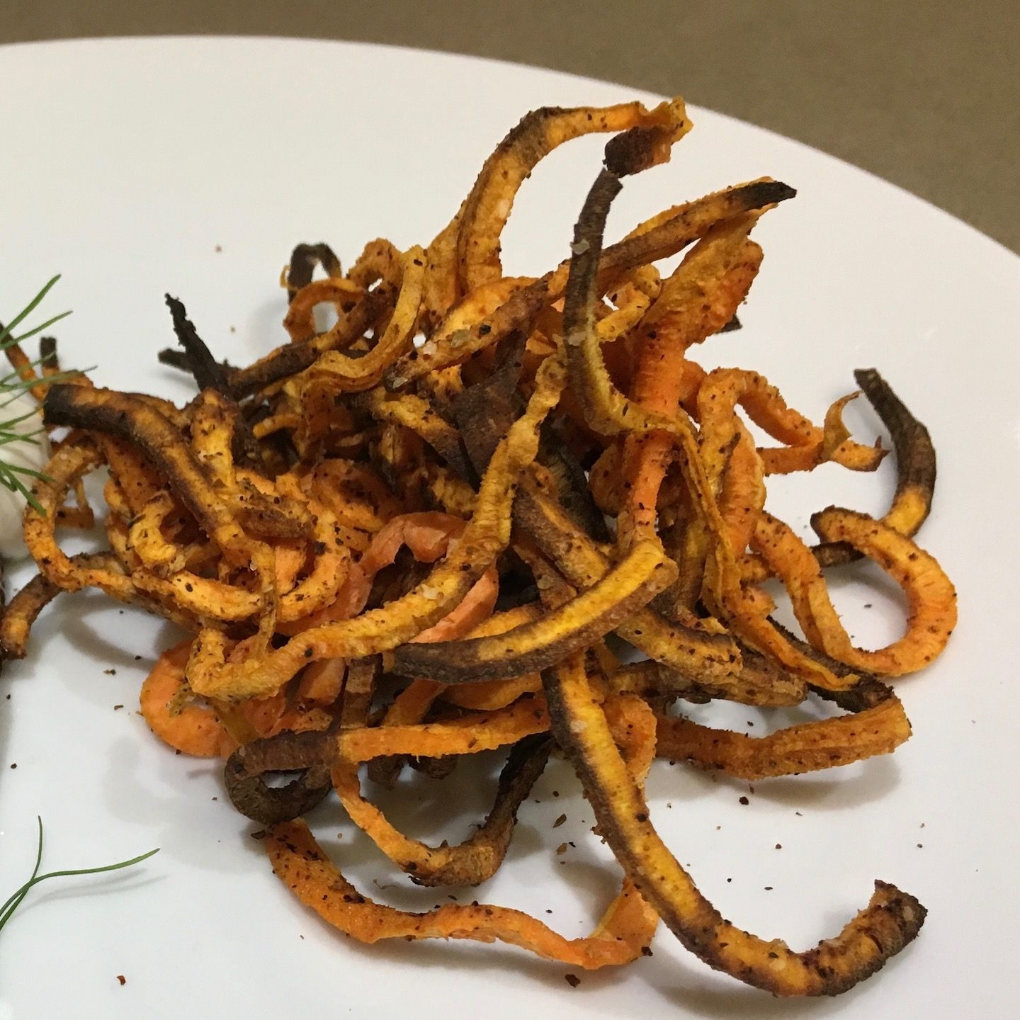 Sweet Potato Curly Fries Air Fried Powered by