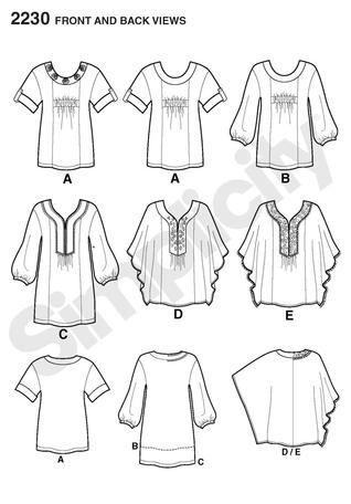 Simplicity 2230- Khaliah Ali Women\'s Tunic/   Sewing   Pinterest ...