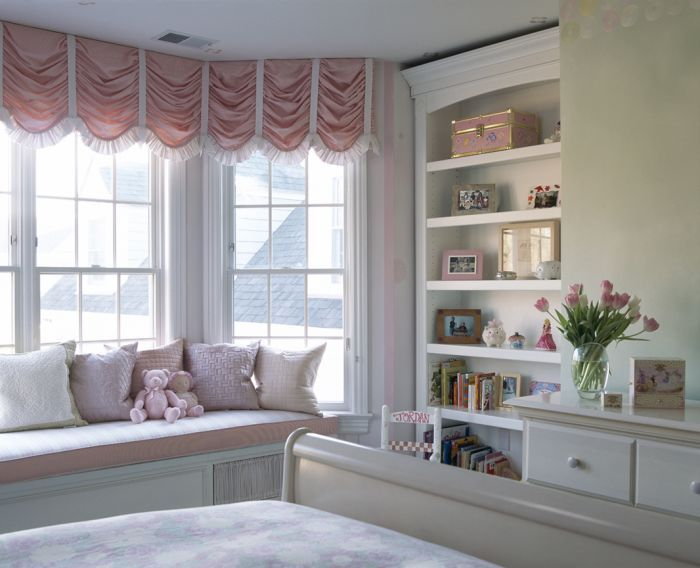 This Would Be Awesome For Our Master Bedroom Bay Window Not The Pink But The Style For Sure