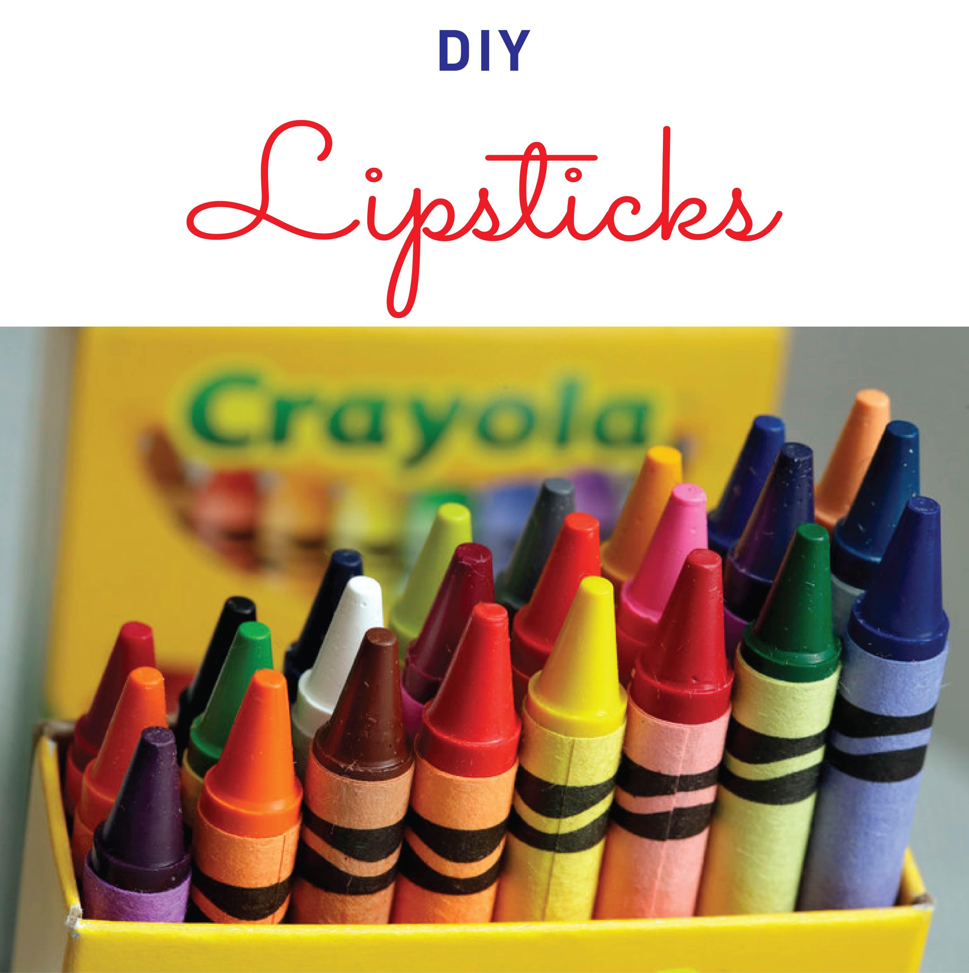 DIY Lipsticks Crayon days, Crayon, Crayola