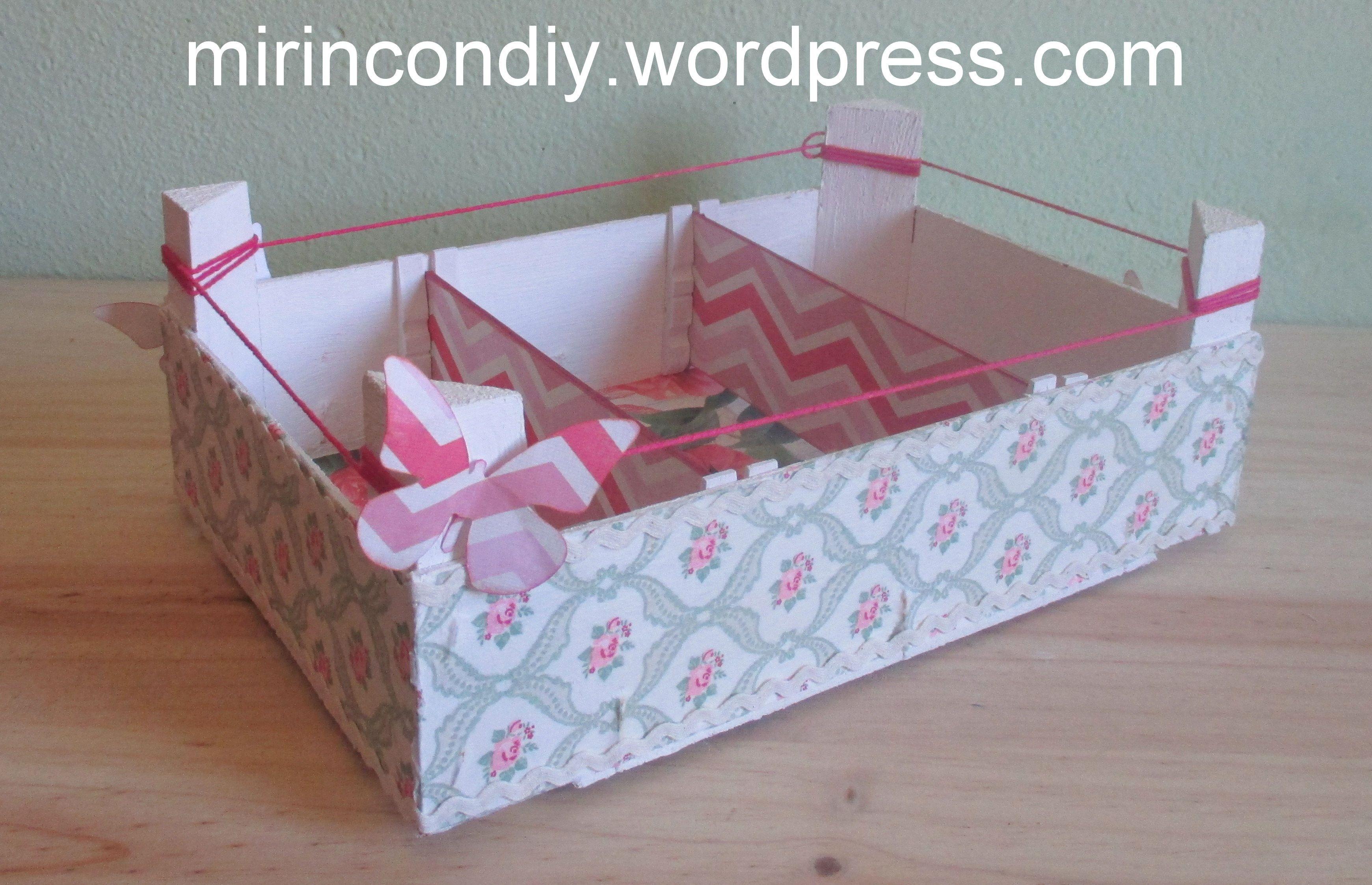 Caja del lidl decorada buscar con google con cajas de fruta pinterest cajas google y - Manualidades cajas decoradas ...