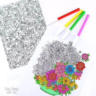 summer bouquet coloring sheets  flower coloring pages