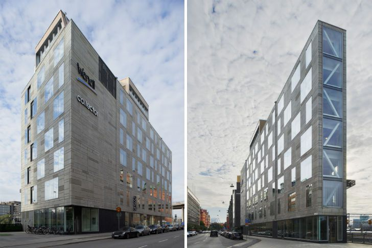 Stockholm's LEED Gold Flat Iron Building Wedges Against the Ma...