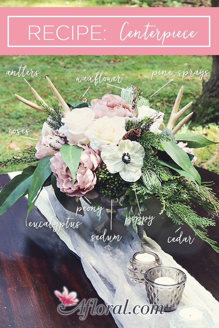 Make your own wedding centerpieces with artificial flowers, greenery ...