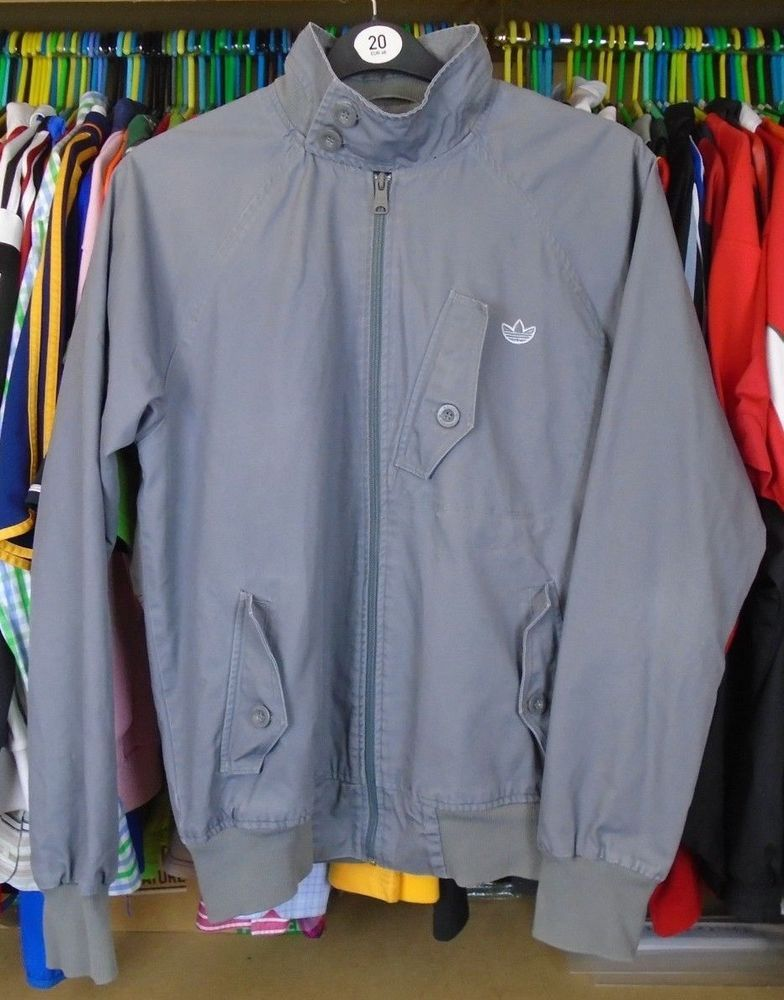 a052f4ec2cad adidas LIGHT GREY COTTON JACKET TOP MEDIUM ADULT  fashion  clothing  shoes   accessories