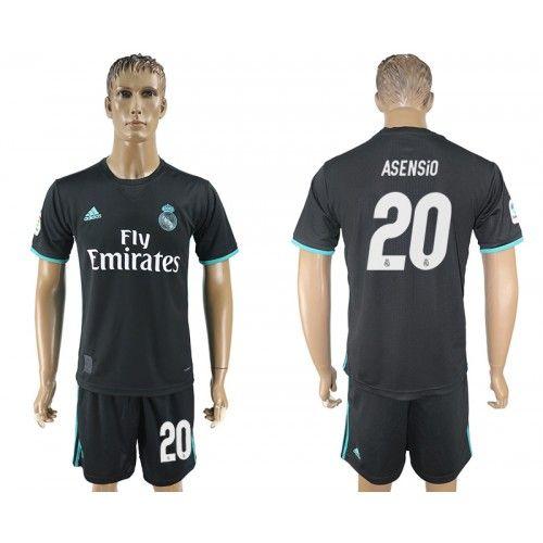 5a1a291c7 ... closeout 2017 2018 football kit real madrid 20 asensio away adidas  black football shirt 21b54 77462