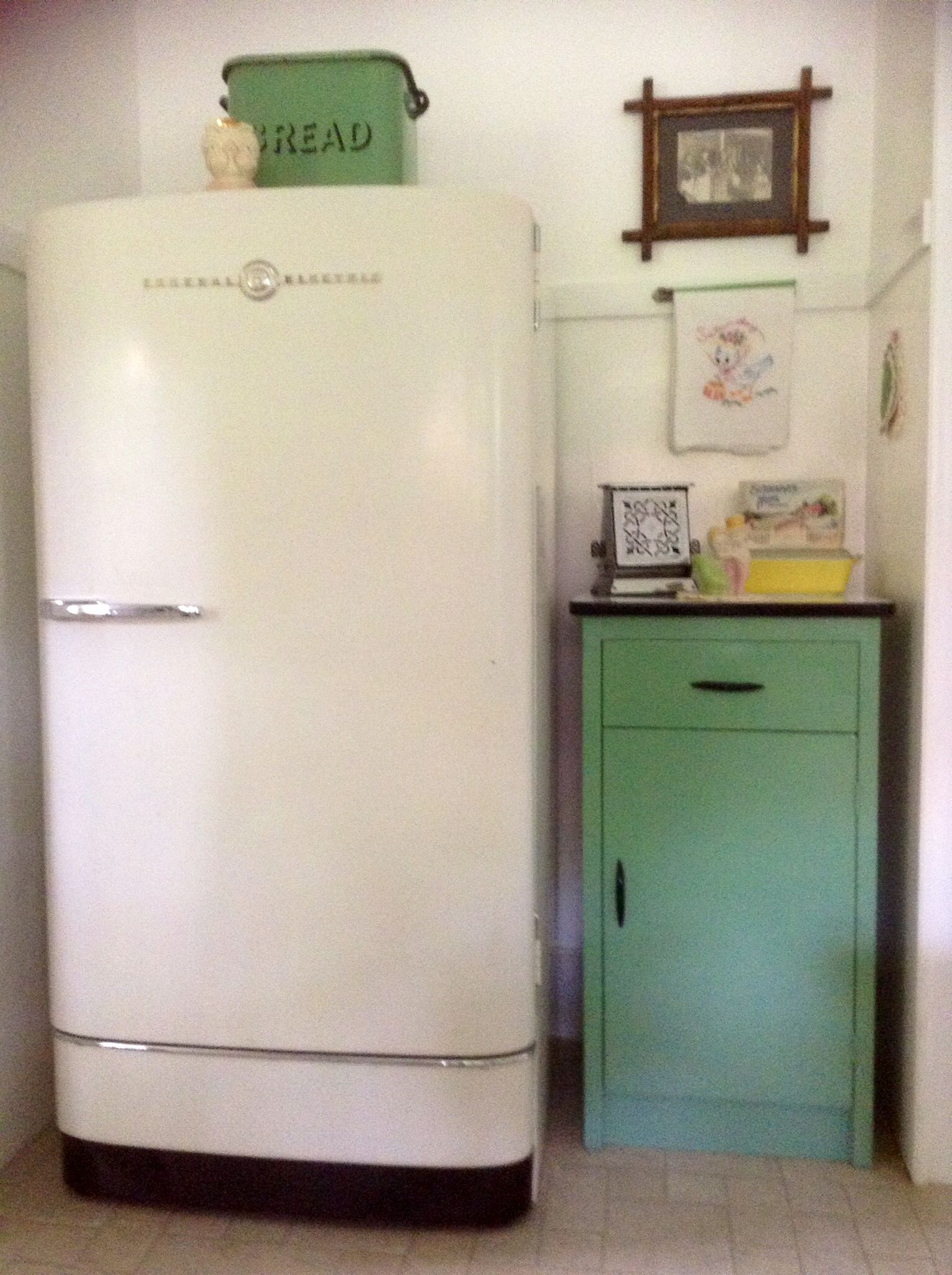 My vintage 1947 GE (General Electric) refrigerator