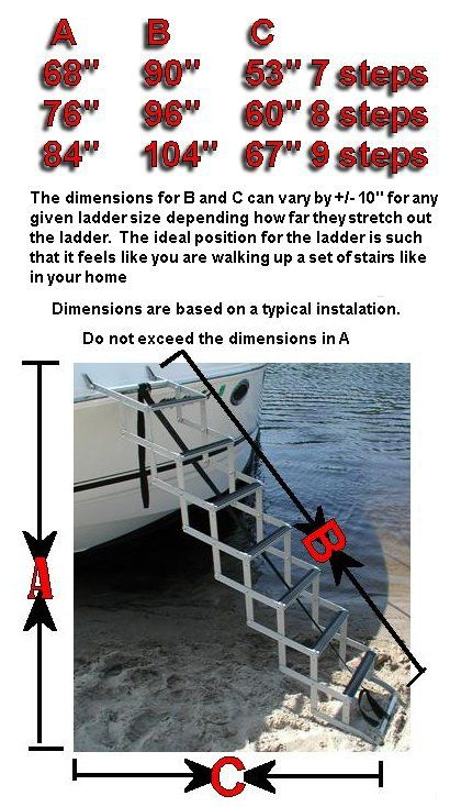 Bow To Beach Ladder Free Shipping For Boats Pontoons Crusiers Nautica Veleiros
