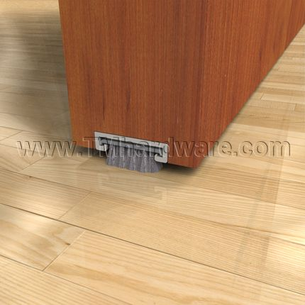 Mortised Aluminum Track With Soft Pile Brush Seal For Sealing Gaps Under  Doors. Bought To
