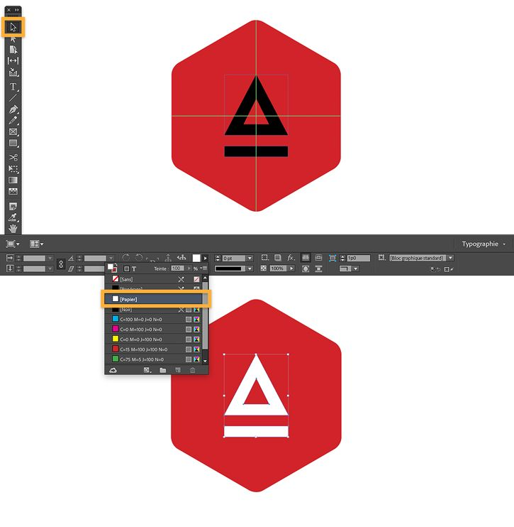 creation logo indesign