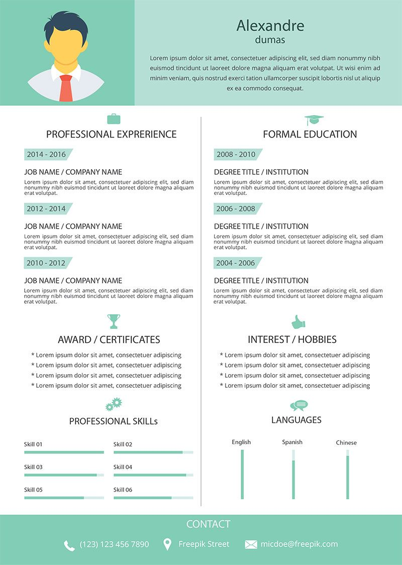 Template 03 | resumes | Pinterest