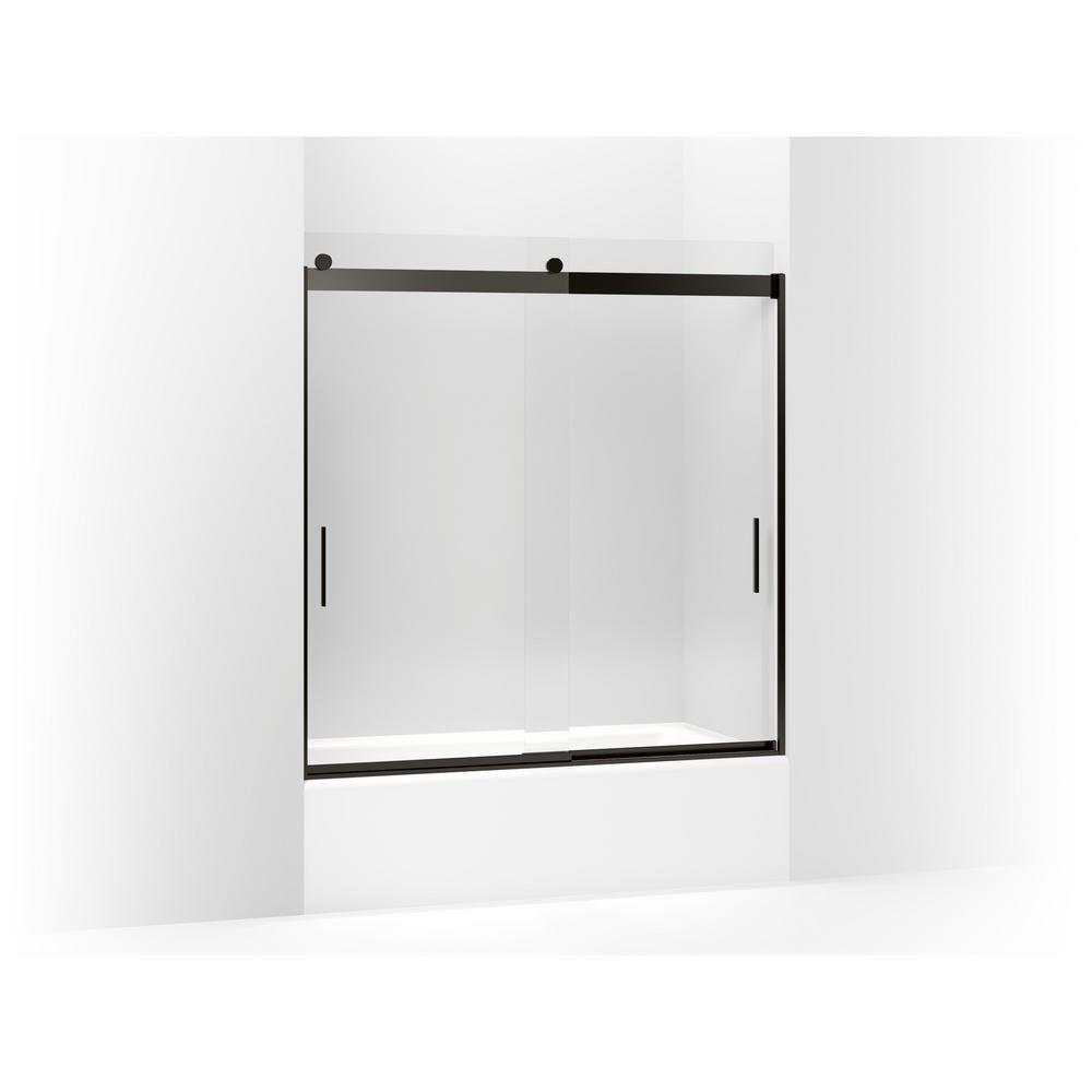 Kohler Levity 59625 In X 62 In Frameless Sliding Tub Door In