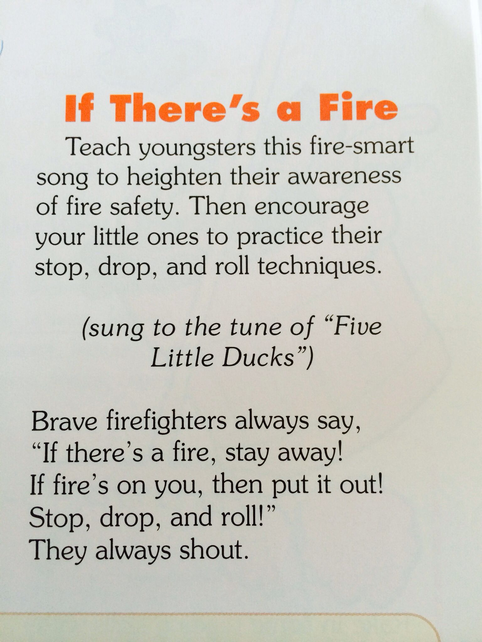 Fire safety Song (With images) Fire safety lesson plans