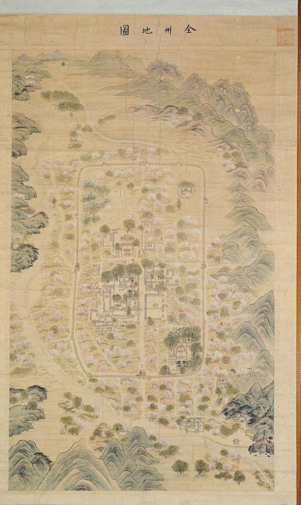 Map Of Jeonju City 전주지도 등 보물된다 Old Maps Of Korea - Jeongju map