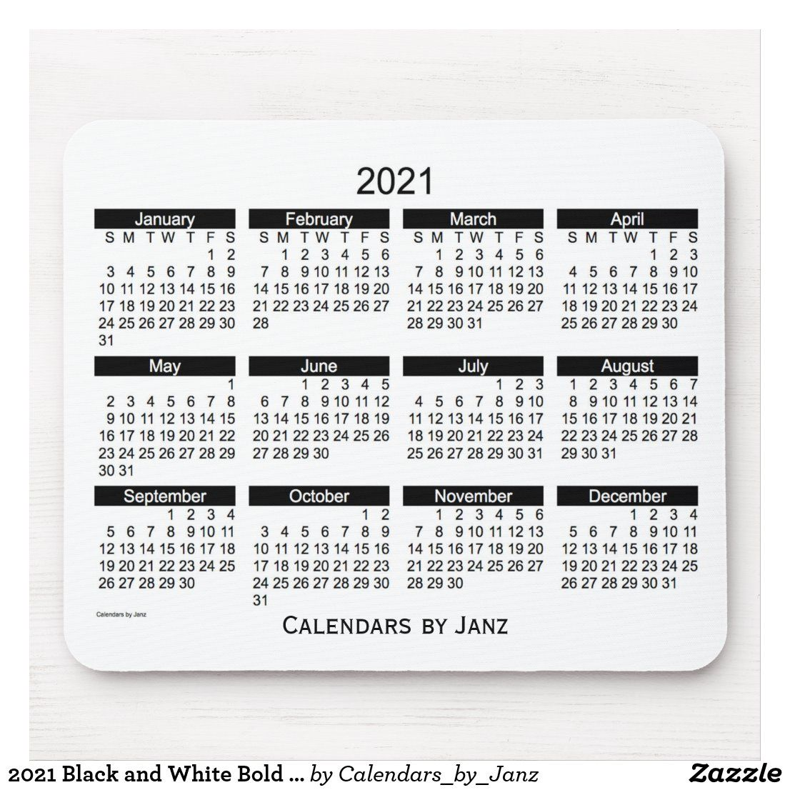 20+ Calendar 2021 Black And White - Free Download ...