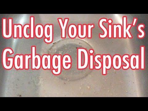 unclog garbage disposal