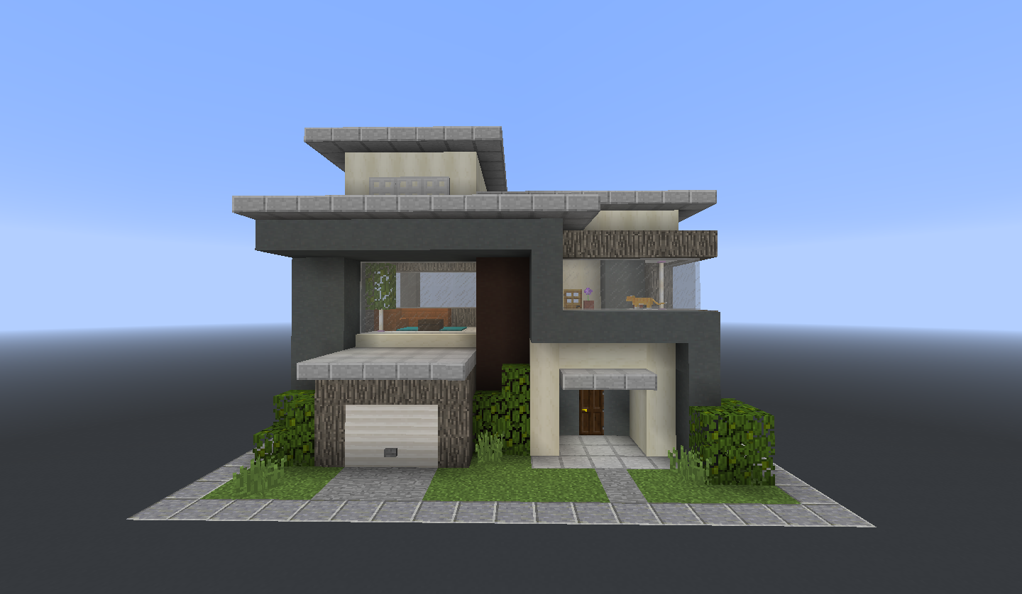 One Chunk Build: a Modern Home : Minecraft  Minecraft small house