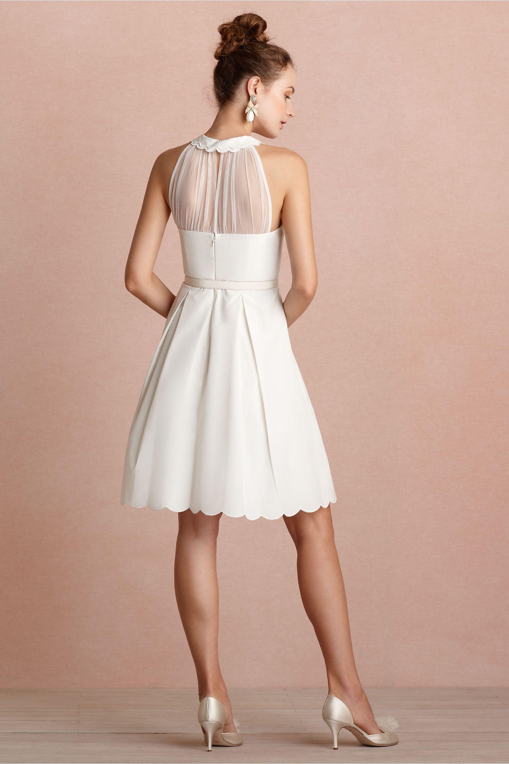 Long wedding reception dresses for the bride  Horizon Dress from BHLDN  Dorsaus wedding  Pinterest  Engagement
