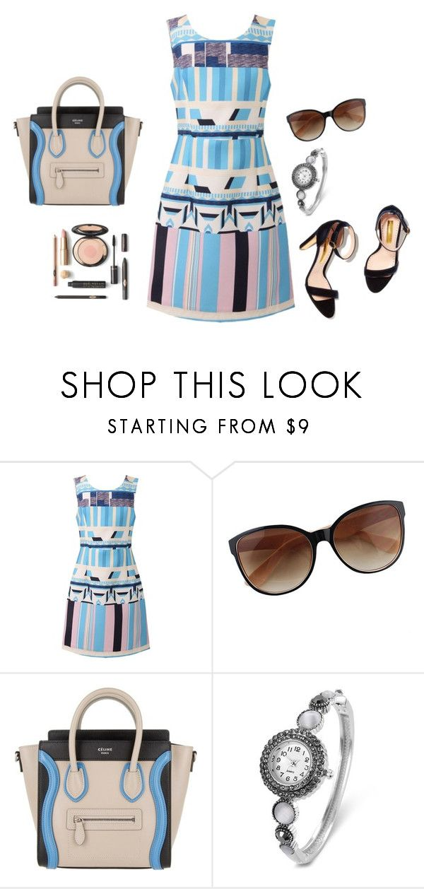 """Working 3"" by carolortiz ❤ liked on Polyvore featuring CÉLINE"