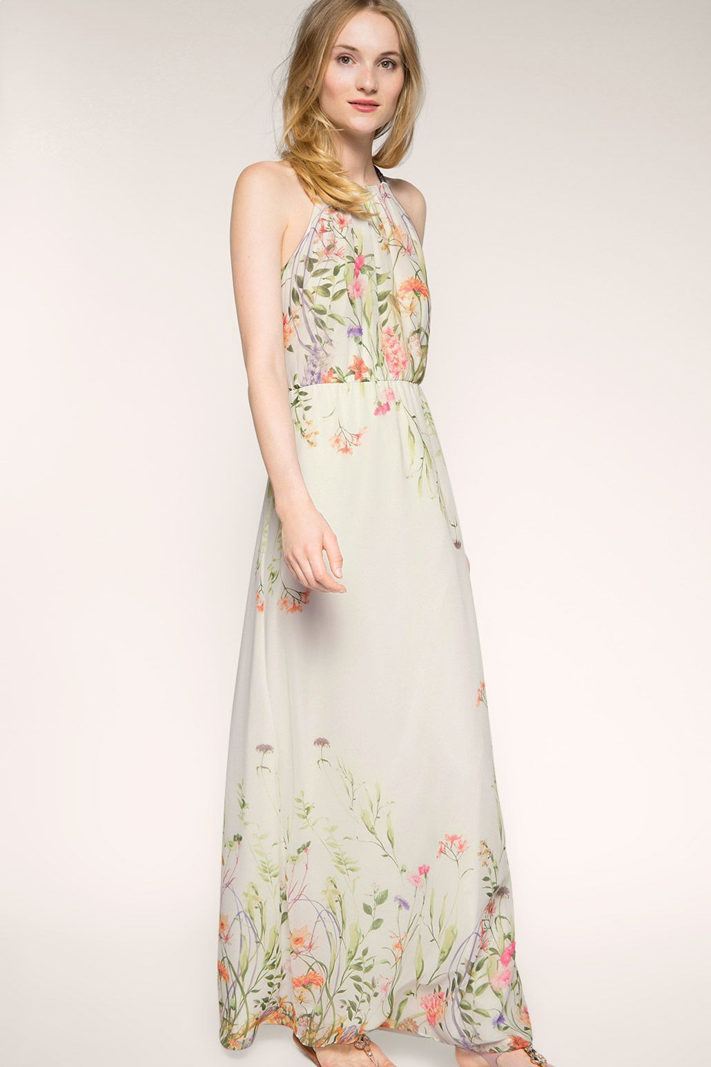 Esprit - flowing floral chiffon maxi dress at our Online Shop