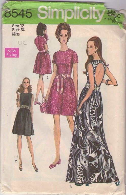 ac364008bcf Simplicity 8545 Vintage 60s Sewing Pattern