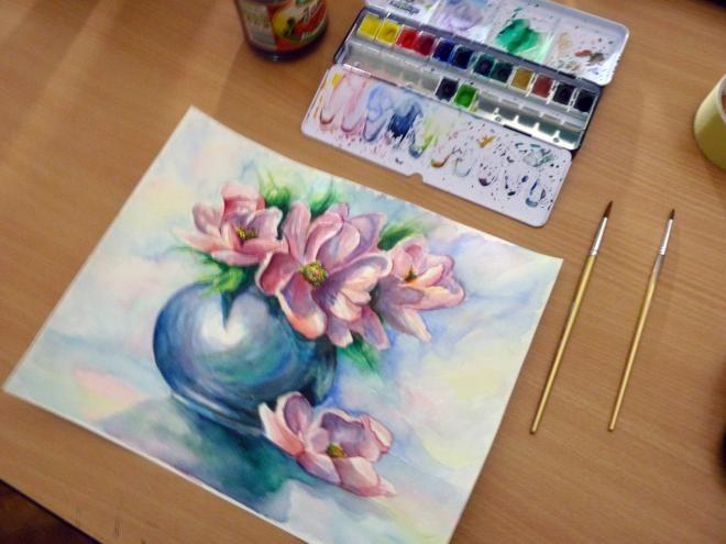 Maľujeme kvety - Ako na to! / illya » SAShE.sk - slovenský handmade dizajn