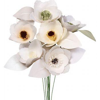 Shimmery Magnolia Paper Flower Kit