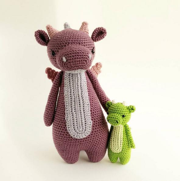 Mini Dragon amigurumi pattern by Little Bear Crochet | Minis, Dragon ...