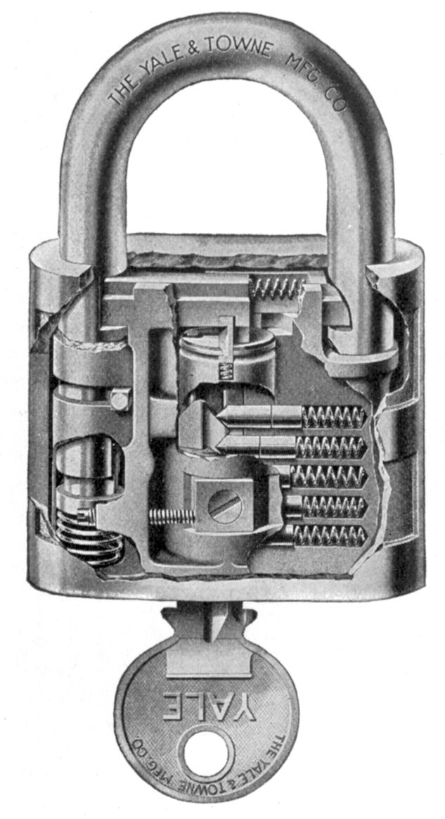 Yale Pin Tumbler Lock Cross Section Invented By Linus