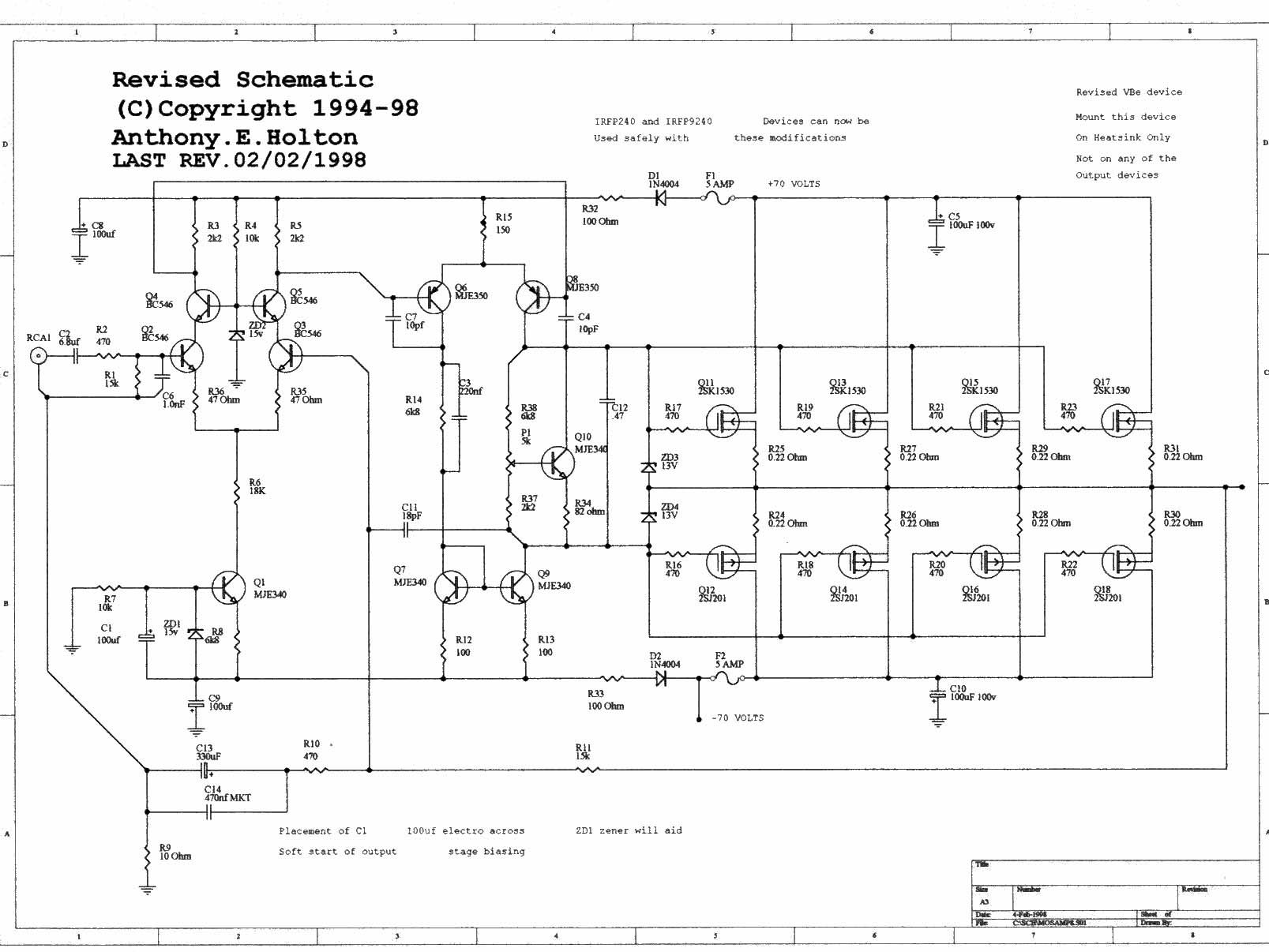 high power mosfet amplifier circuit ideas audio audio amplifier