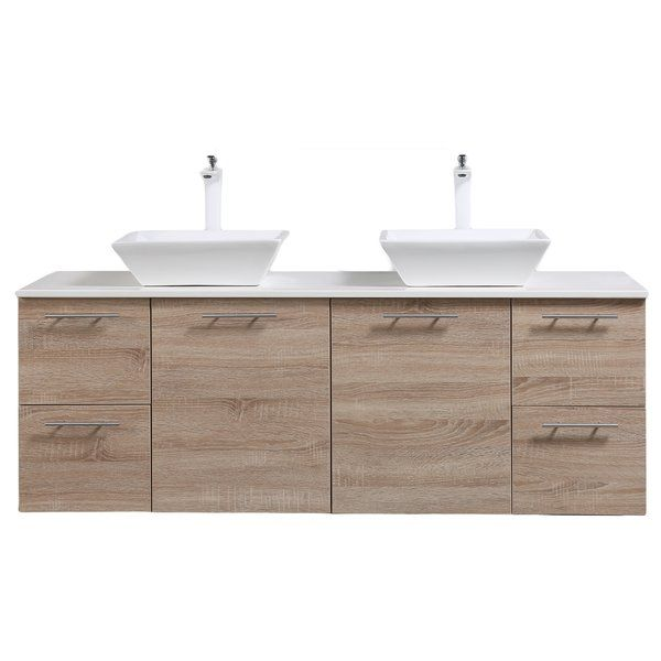 Orrville 60 Wall Mounted Double Bathroom Vanity Set In 2018