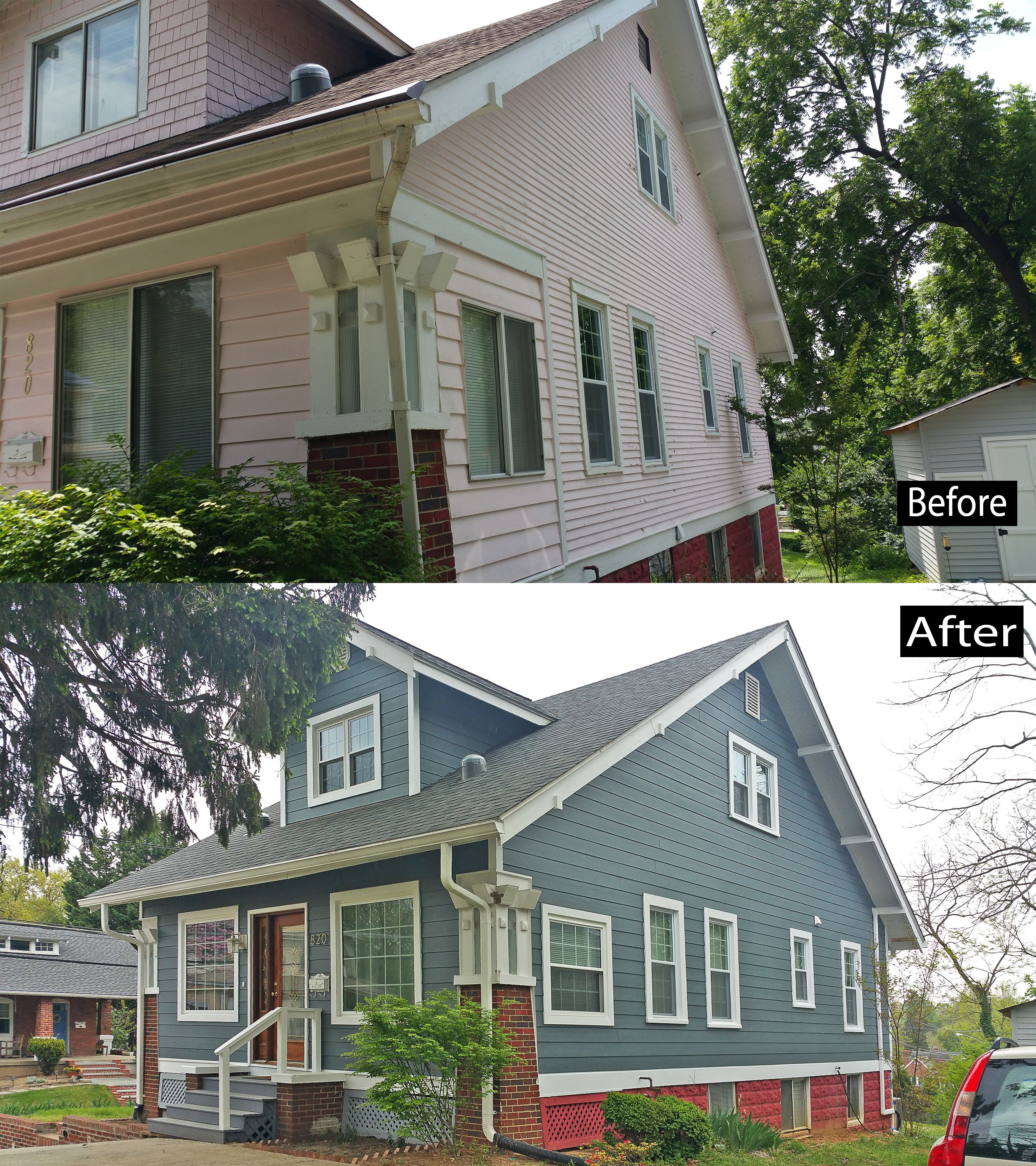 Install Owens Corning Duration Shingle Estate Gray Color James Hardie Cedarmill Fiber Cement Siding Evening Blue Color T Vinyl Siding House Exterior Siding