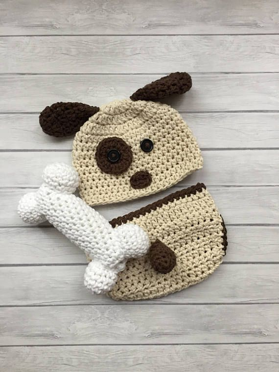 Puppy hat, crochet puppy hat, baby puppy hat, newborn puppy hat ...
