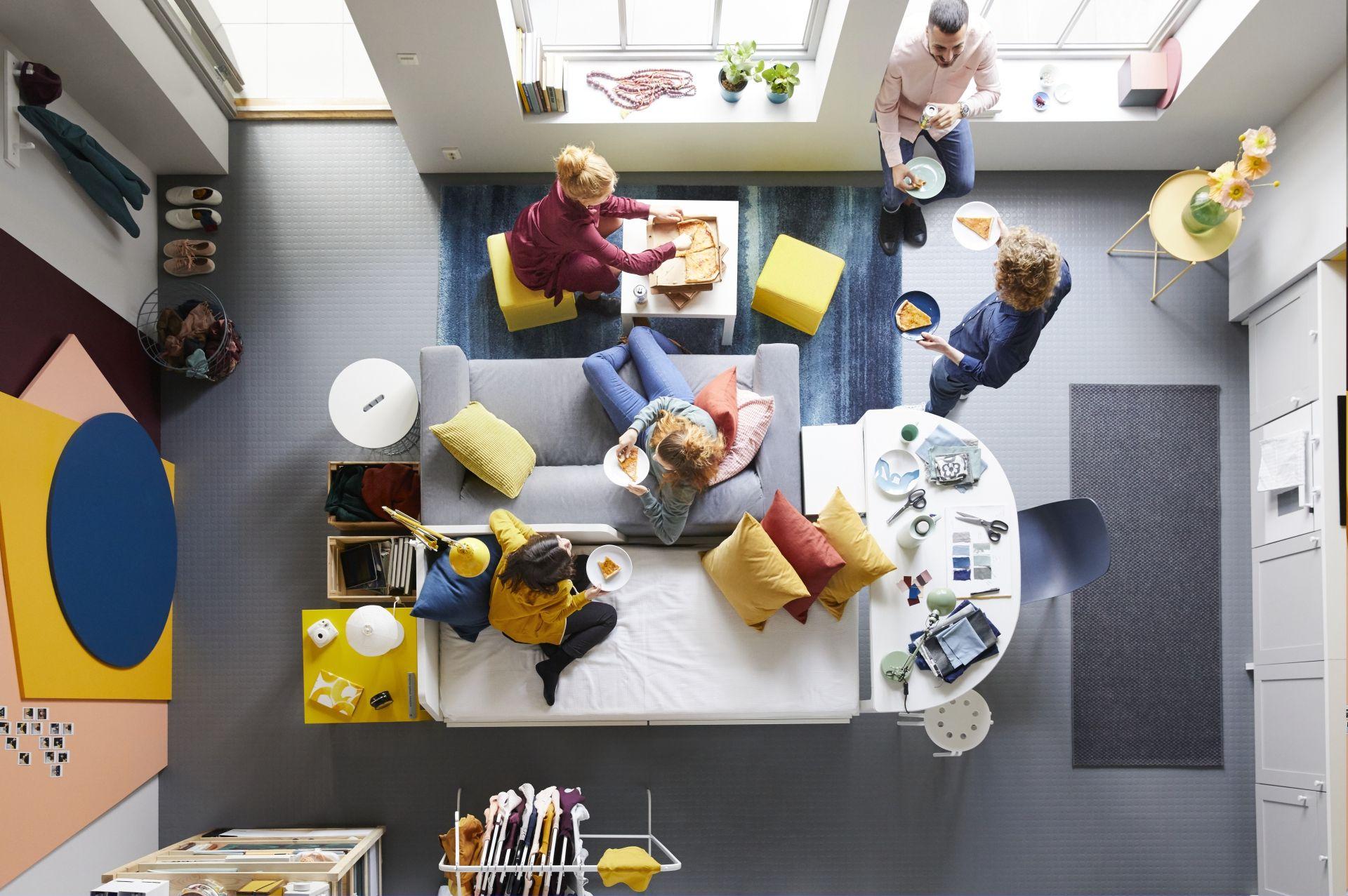 Una habitación pequeña y una gran idea! Un diseño creativo puede ...