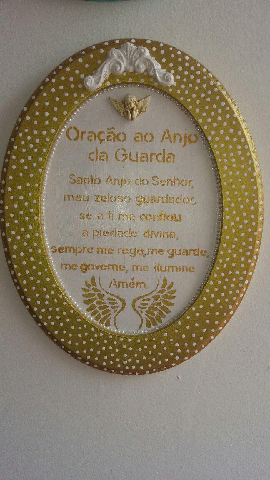 49c705f4fc86c Quadro MDF Oração do Anjo da Guarda   Artesanato feito por mim