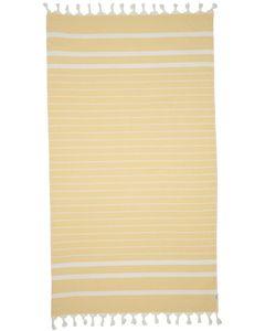 80% Cotton / 20% Bamboo blend Yellow on white stripe
