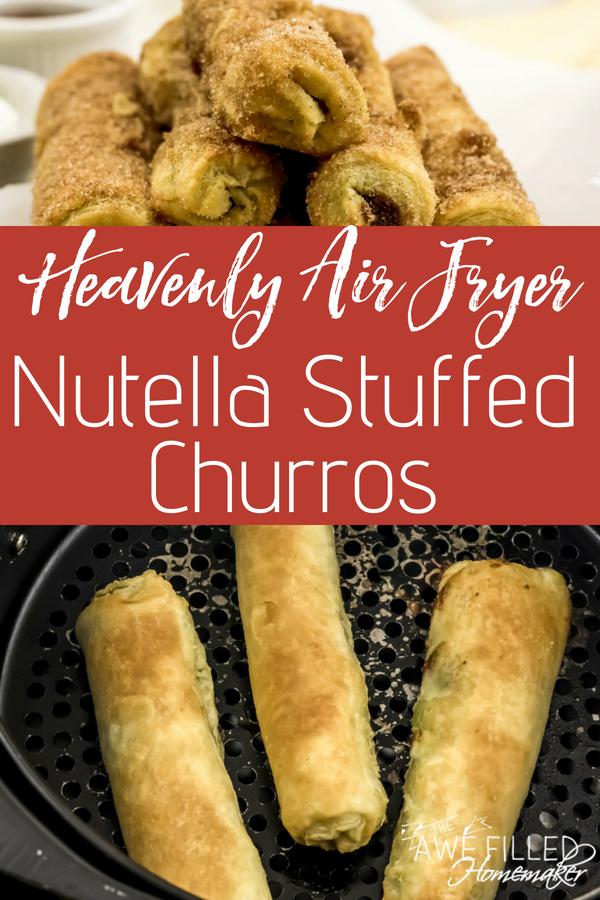 Heavenly Air Fryer Nutella Stuffed Churros Recipe