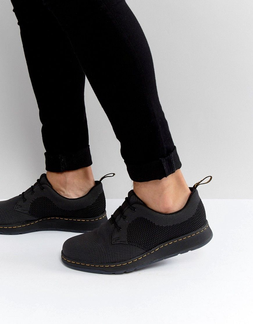 03b817545be Dr Martens Lite Cavendish Knit 3 Eye Shoes - Black | Fashion Box ...