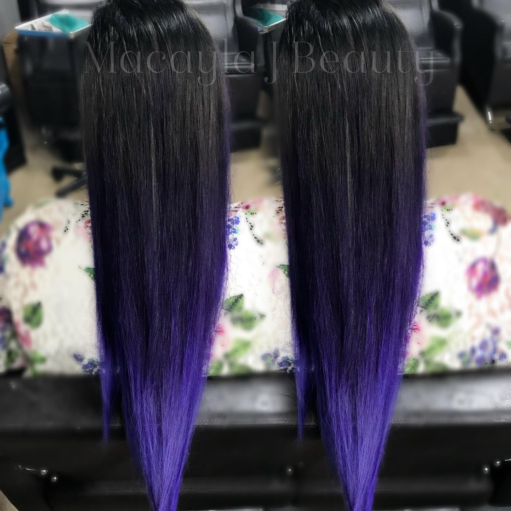 Violet color melt pravana vivids macayla j beauty hair color