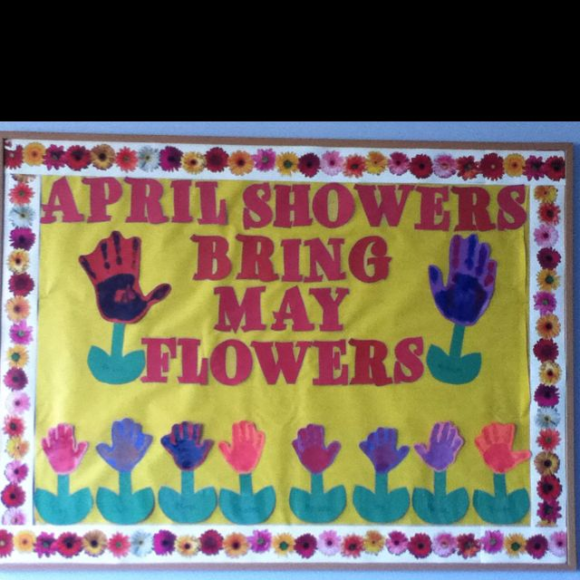 Bulletin Board Ideas 2 Year Olds: Our April Bulletin Board For The 2 Year Old Room!