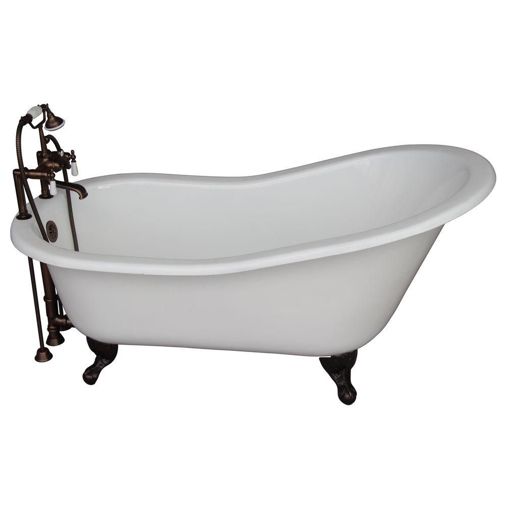 Barclay Products 5 6 Ft Cast Iron Ball And Claw Feet Slipper Tub