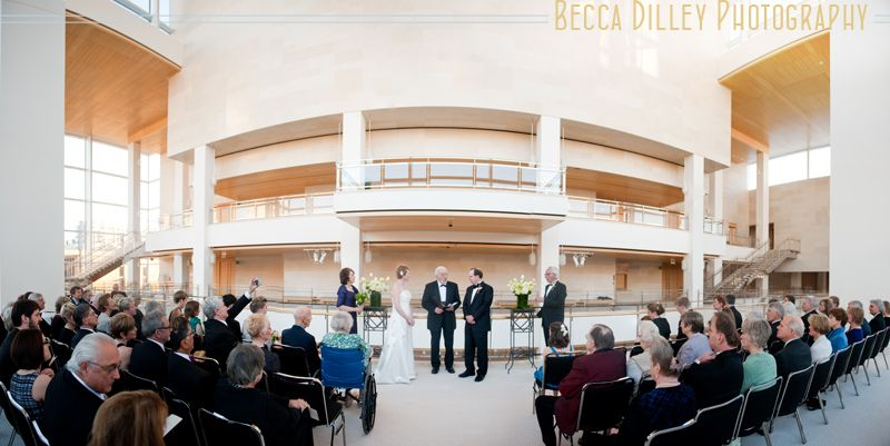 Overture Center For The Arts In Madison Wi Promenade Lobby Wedding Ceremony