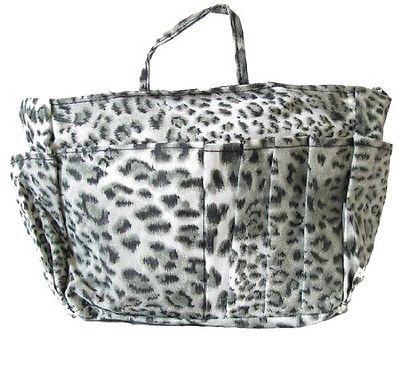 The Plaid Purse Bag Organizer - Black Leopard Print (Large). Free Shipping